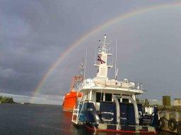 Regen und kleine Arbeiten am Schiff