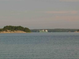 Abschied von Uwe in Fiskeham und ich ankere bei der Insel Högsara