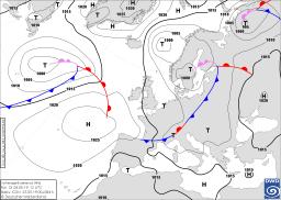 Schlechtwetterzone über Mersrags- kalt und windig