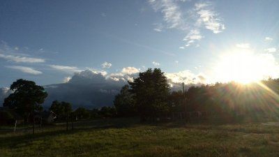 Hier ist der Herbst eingezogen: 7 Beaufort und alle 15 Minuten ein Regenschauer
