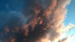 Gestern Abend gab es wieder einmal ein dramatisches Werk am Himmel